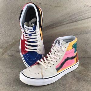 Vans Sk8 Hi Multicolor Sneakers Size 7